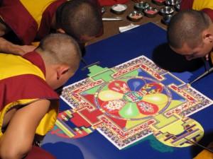 Tibetští mniši v Ostravě